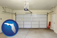 florida a garage door interior, showing an electric garage door opener